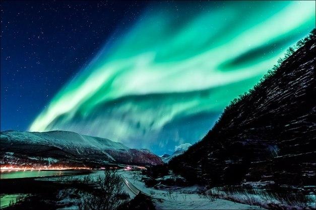 Aurora Boreal azul II intenso